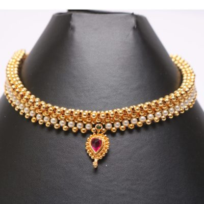 Maharashtrain traditional jewellery - tushi