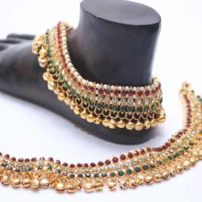Multicolour bollywood bridal payal