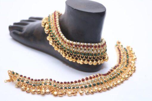 Multicolour bollywood bridal payal