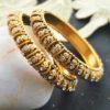 Antique finish pair of bangles