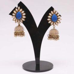 Royal blue jhumki earrings online