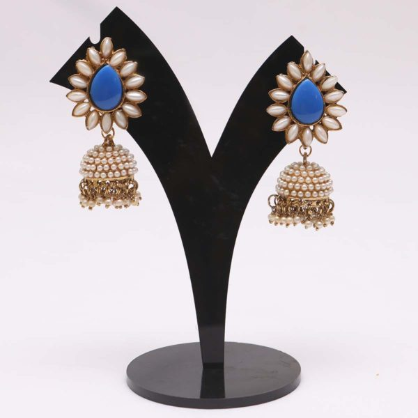 Royal blue jhumki earrings online