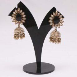 Black jhumki earrings