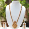 Gold tone long haram necklace set