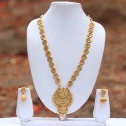 Elegant Gold tone Long necklace set