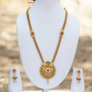 Multicolour golden necklace set