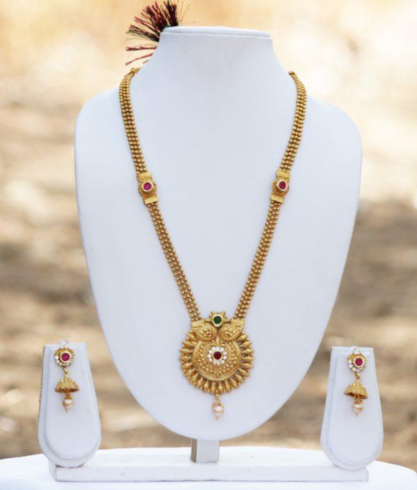 Multicolour golden necklace set