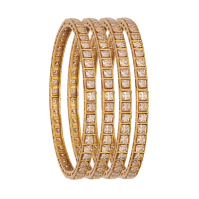 CZ bridal copper bangles