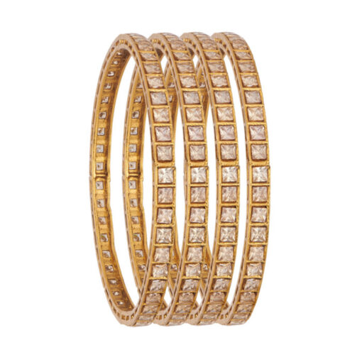 CZ bridal copper bangles