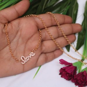 Valentine's gift for her love pendent with chain