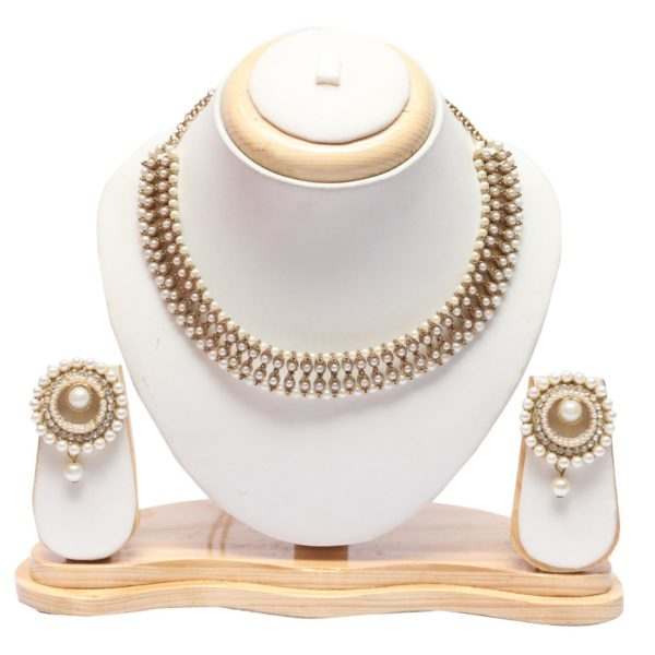 Peark choker necklace set