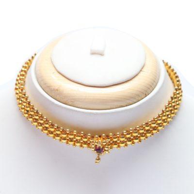 Traditional maharashtrian tushi kholapuri jewellery