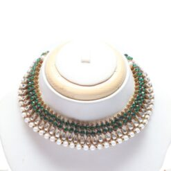 Green kundan choker necklace