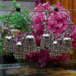 big oxidized earrings