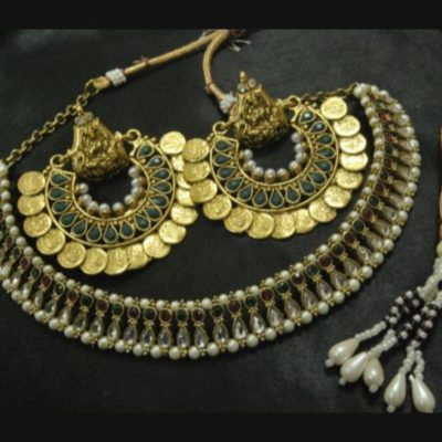 Ram Leela earrings kundan wedding necklace set
