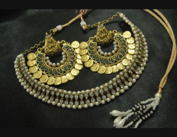 Ram Leela earrings kundan wedding necklace set
