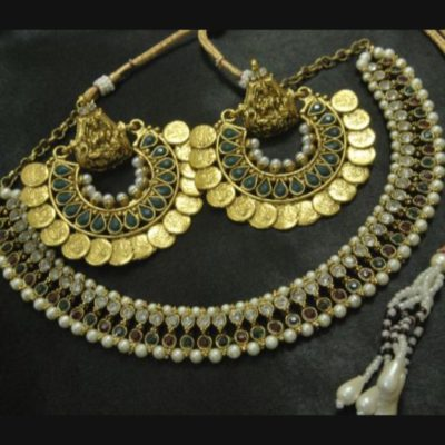 Ram Leela earrings kundan multicolour wedding necklace set