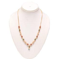 Multicolour bead short chain- office wear