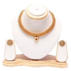 Maharashtrian tushi necklace with earrings