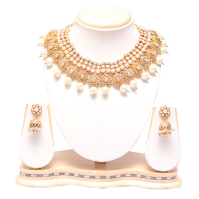 Raani haar pearl choker necklace set