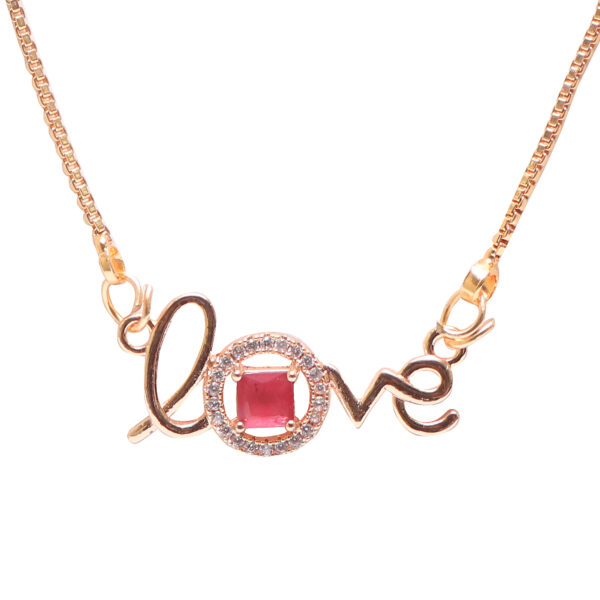 Ruby stone love pendent
