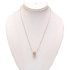 Rose gold chain with ball stone studded pendent