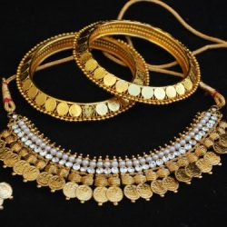 Artificial Laxmi Necklace Set matching Laxmi Bangles