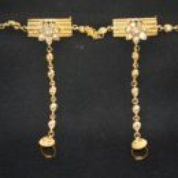 Imitation chandra nandini – helena's bridal jewellery set in gold tone