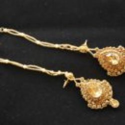 Imitation reeti fashions's bridal jewellery set in gold tone (8 Pieces)-1