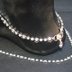 Imitation artificial silver base metal anklet for women