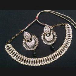 Imitation multi strings And cz embellished necklace set