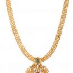 artificial beautiful golden necklace set-4