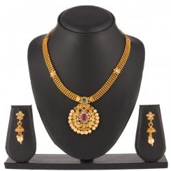 artificial beautiful golden necklace set