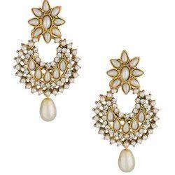 artificial beautiful pearl n stone studded earrings