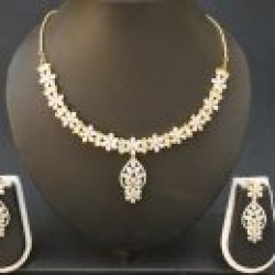 artificial fascinating american diamond necklace set-1