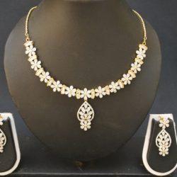 artificial fascinating american diamond necklace set-1