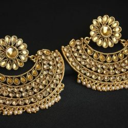 artificial fine gold Tone imitation earrings