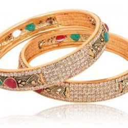 Artificial Gold Base Metal Bangle Set for Women-2