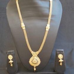 artificial gold stone studded beaded chain wedding jewelry-1