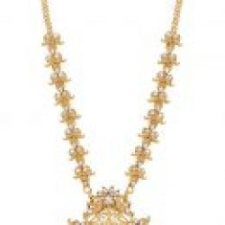 Artificial Golden Copper Base South Indian Temple Jewelry Set for Women-1