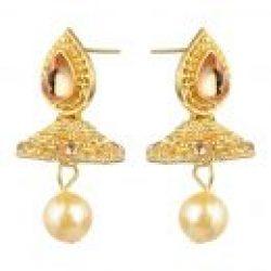 artificial golden short necklace necklace set-1