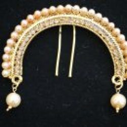 artificial hair accessory pearl embellished juda pin-1