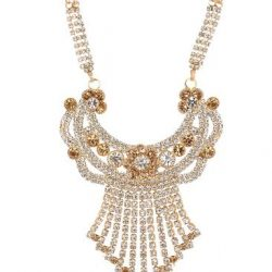f1b5743b6cb artificial imitation gold base metal with gold and white stone studded  mangalsutra for women