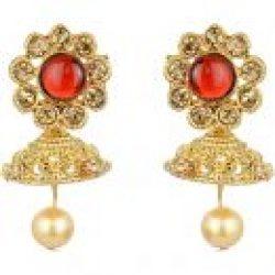 artificial imitation gold tone floral multicolour necklace set-2