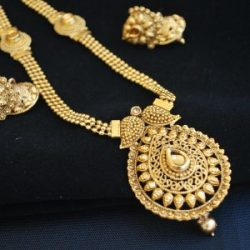 artificial imitation gold tone wedding necklace set