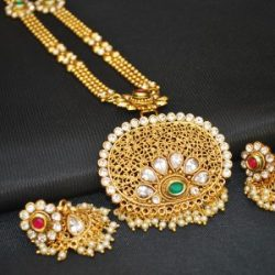 artificial imitation jewellery one-of-kind copper base necklace set