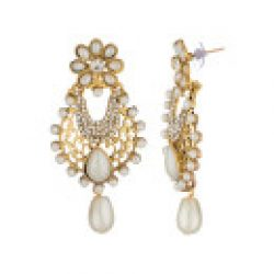 artificial pearl earrings with fine work-1