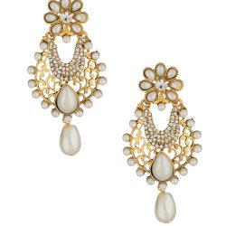artificial pearl earrings with fine work