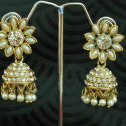 artificial reeti fashions – 4elegant pearl jhumkii