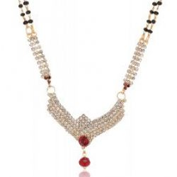 artificial reeti fashions gold base metal mangalsutra for women